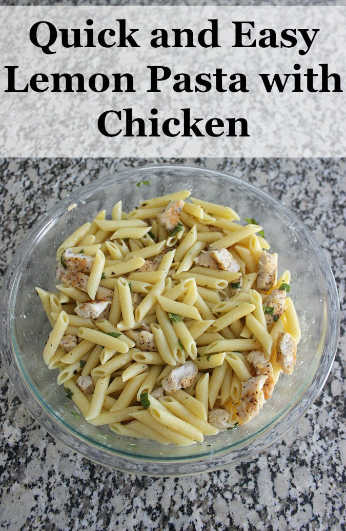 Quick and Easy Lemon Pasta with Chicken Recipe