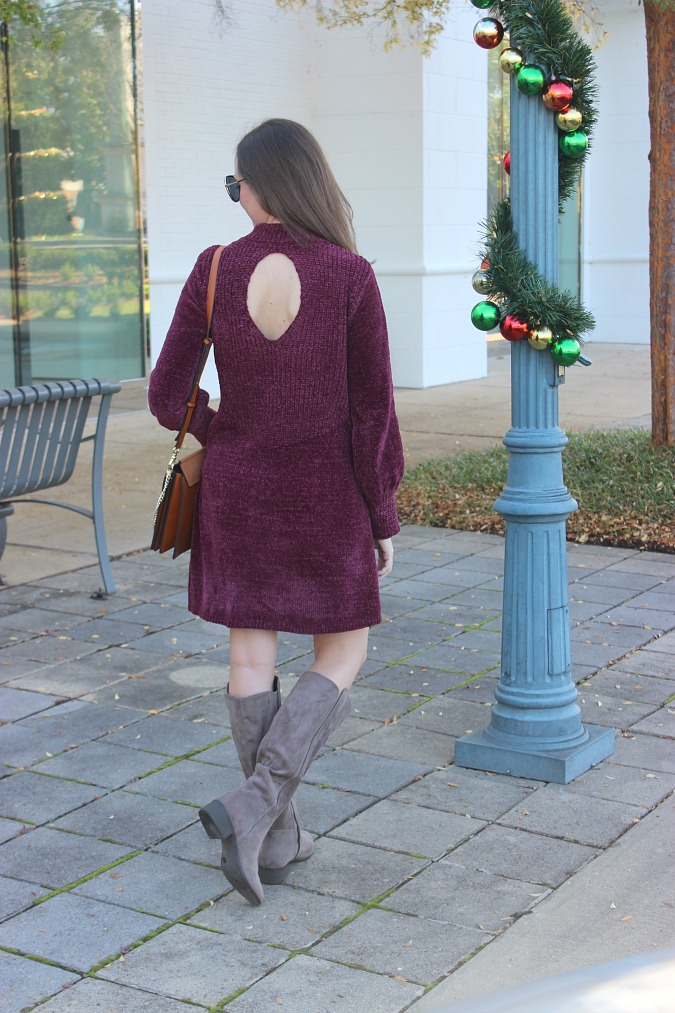Thanksgiving Outfit Chenille Sweater Dress